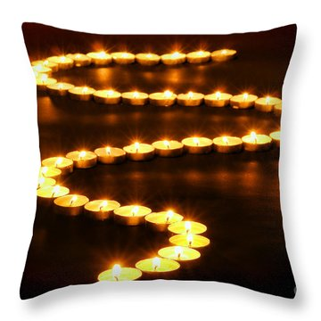 Light Path Throw Pillow by Olivier Le Queinec