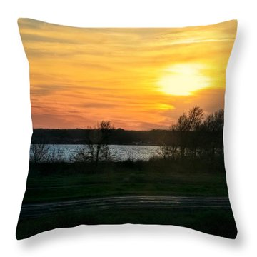 Light The Creek Throw Pillow by Joan Bertucci