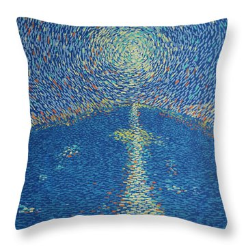 Light Upon The Water Throw Pillow by Stefan Duncan