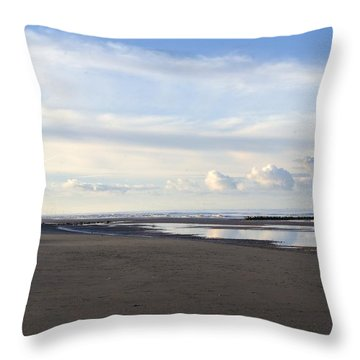 Lighthouse At Talacre Throw Pillow by Spikey Mouse Photography
