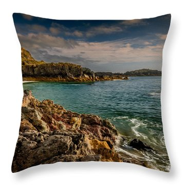 Lighthouse Bay Throw Pillow by Adrian Evans