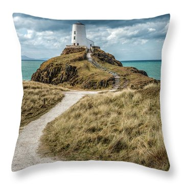 Lighthouse Path Throw Pillow by Adrian Evans