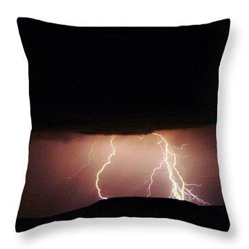 Lightning Dancing Throw Pillow by Jeff Swan