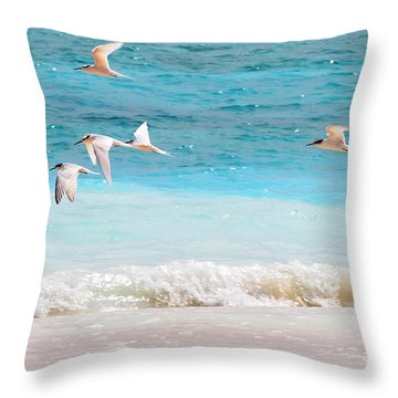 Like Birds In The Air Throw Pillow by Jenny Rainbow