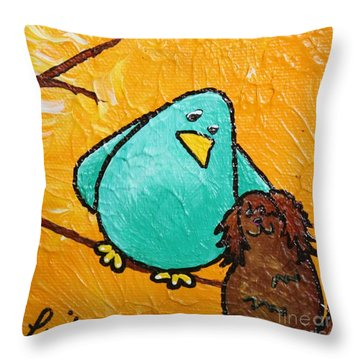 Limb Birds - Bird Dog Throw Pillow by Linda Eversole
