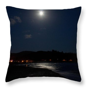 Lincoln City Moonlight Throw Pillow by John Daly