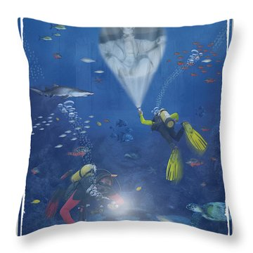 Lincoln Diving Center Throw Pillow by Mike McGlothlen