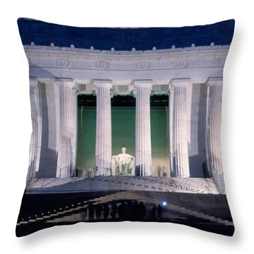 Lincoln Memorial At Dusk, Washington Throw Pillow by Panoramic Images