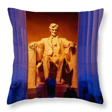 Lincoln Memorial, Washington Dc Throw Pillow by Panoramic Images