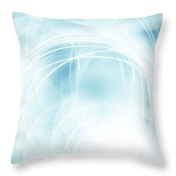 Lines Throw Pillow by Les Cunliffe