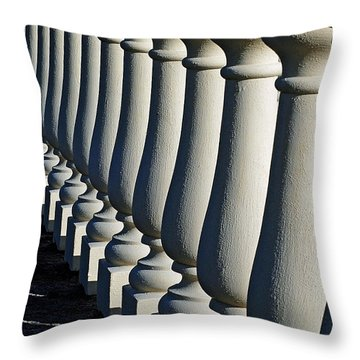 Lineup Throw Pillow by Lisa Phillips