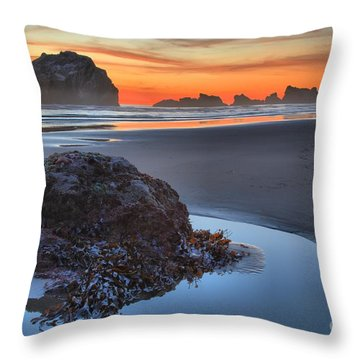 Lining Up For The Shot Throw Pillow by Adam Jewell