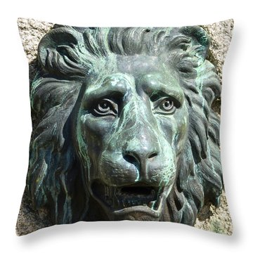 Lion King Throw Pillow by Charlie Brock