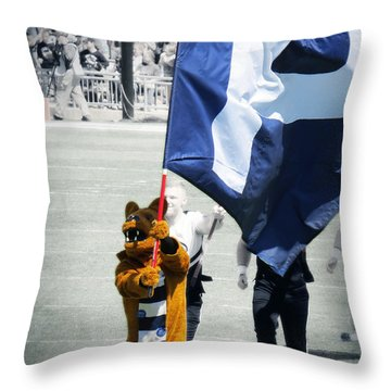 Lion Leading The Team Throw Pillow by Dawn Gari