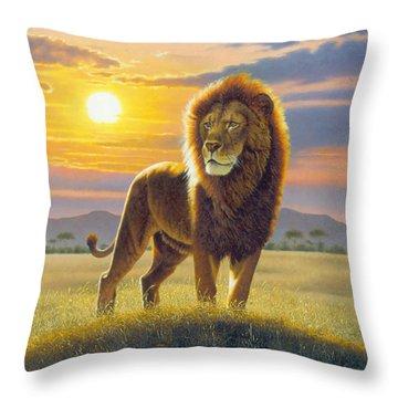 Lion Throw Pillow by MGL Studio - Chris Hiett