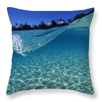 Liquid Energy Throw Pillow by Sean Davey