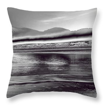Liquid Metal Throw Pillow by Jon Burch Photography