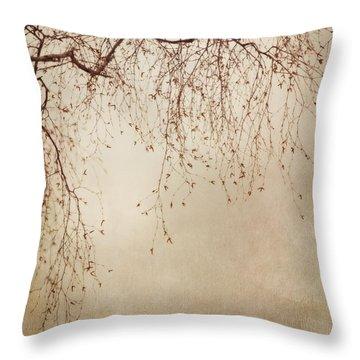 Listen Closely  Throw Pillow by Priska Wettstein
