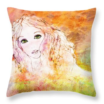 Listen To The Colour Of Your Dreams Throw Pillow by Barbara Orenya