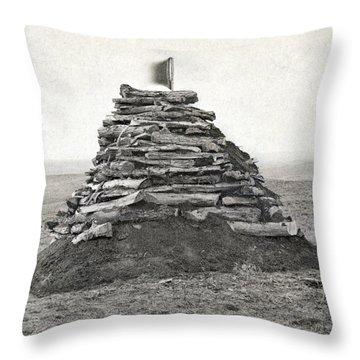 Little Bighorn Monument Throw Pillow by Granger