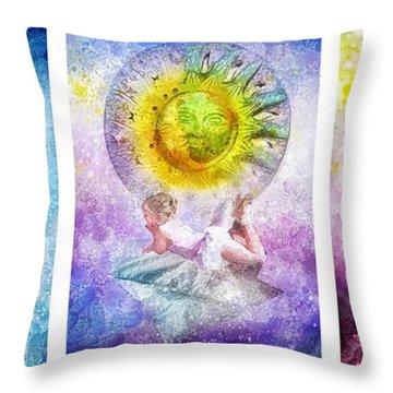 Little Dream Triptic Throw Pillow by Mo T