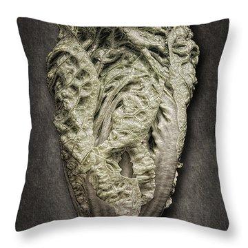 Little Gem Lettuce Throw Pillow by Tom Mc Nemar