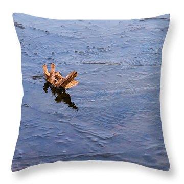 Little Navy - Fram In Pack Ice - Featured 3 Throw Pillow by Alexander Senin