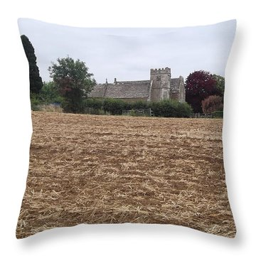 Little Rissington Church 2 Throw Pillow by John Williams