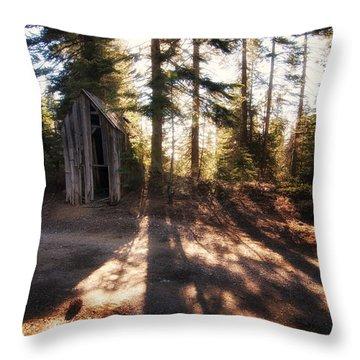 Little Shed Throw Pillow by Kurt Golgart