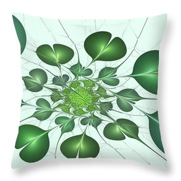 Live In Clover Throw Pillow by Anastasiya Malakhova