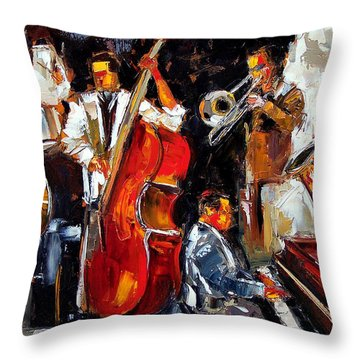 Living Jazz Throw Pillow by Debra Hurd