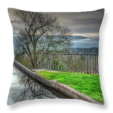 Llangollen Canal  Throw Pillow by Adrian Evans