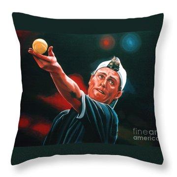 Lleyton Hewitt 2  Throw Pillow by Paul Meijering
