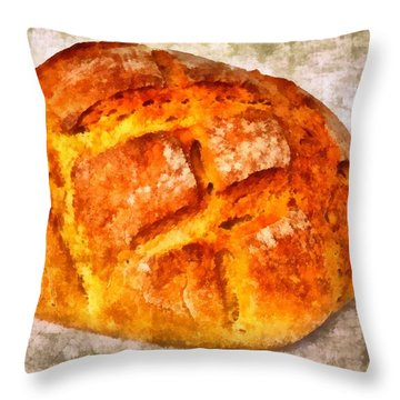 Loaf Of Bread Throw Pillow by Matthias Hauser