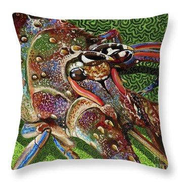 lobster season Re0027 Throw Pillow by Carey Chen