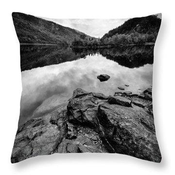 Loch Beinn A Mheadhoin Throw Pillow by Dave Bowman