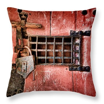 Locked Up Throw Pillow by Olivier Le Queinec