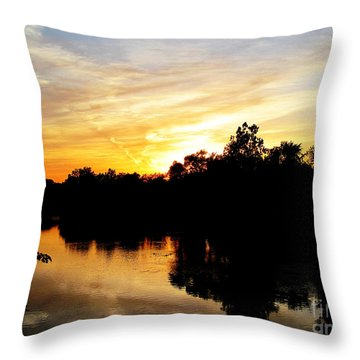 Logan Street Sunset Two Throw Pillow by Tina M Wenger