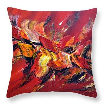 L'oiseau De Feu Throw Pillow by Thierry Vobmann