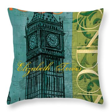 London 1859 Throw Pillow by Debbie DeWitt
