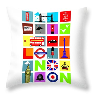London Throw Pillow by Mark Rogan