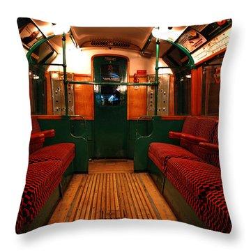 London Undergound Car Throw Pillow by Mark Rogan