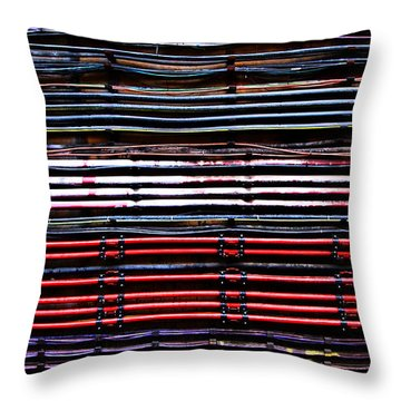 London Underground Cables Throw Pillow by Mark Rogan
