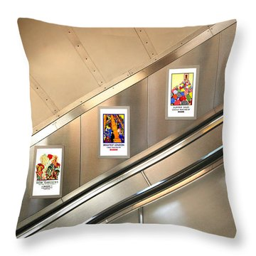 London Underground Poster Collection Throw Pillow by Mark Rogan