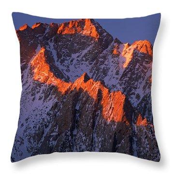 Lone Pine Peak Throw Pillow by Inge Johnsson