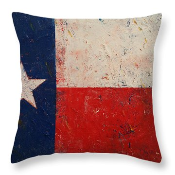 Lone Star Throw Pillow by Michael Creese