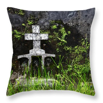 Lonely Grave Throw Pillow by James Brunker