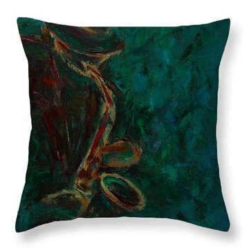 Lonely Jazz Throw Pillow by Xueling Zou