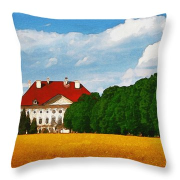Lonely Mansion Throw Pillow by Ayse Deniz