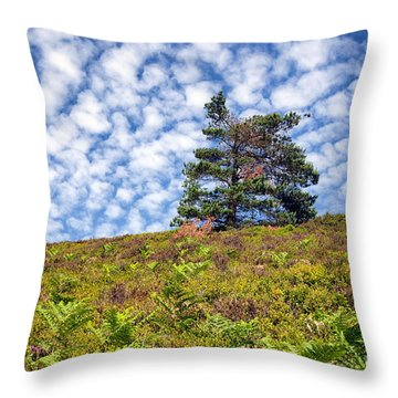 Lonely Tree Throw Pillow by Adrian Evans